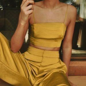 Le Rumi gold saffron crop top!